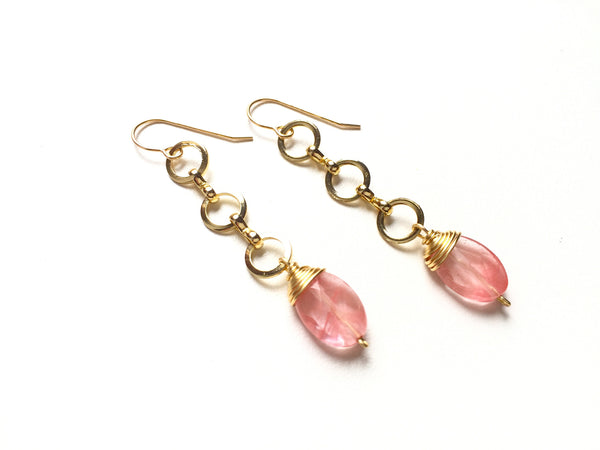 Cherry Strand Earrings