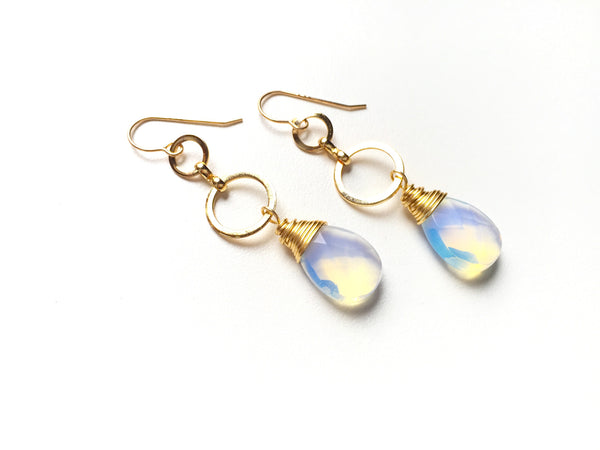 Opal Sky Dangle Earrings