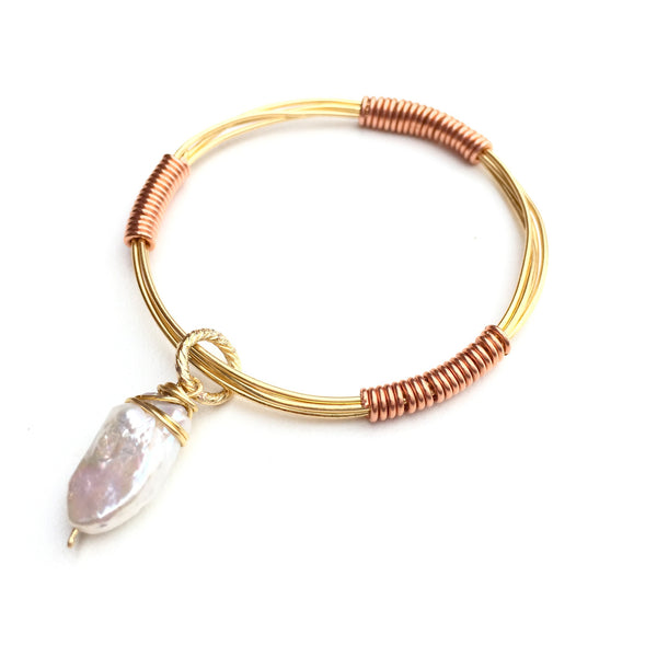 Gold Wire Bangle