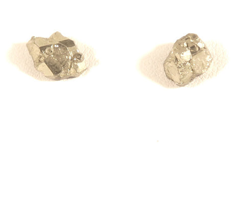 Fool's Love Pyrite Stud Earrings