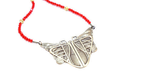 Be Your Own Hero Scroll Necklace