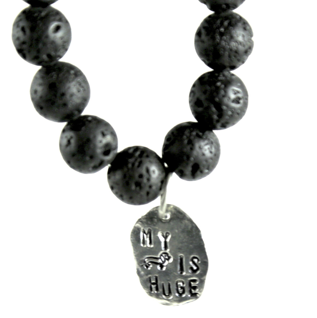 """My Wiener is Huge"" Lava Bracelet"