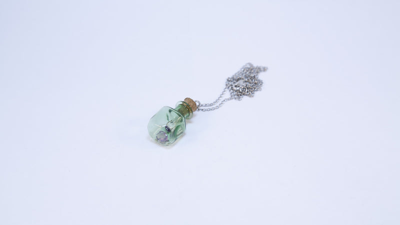 Message In A Bottle Necklace-Green
