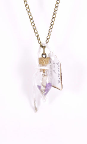 """You Are My Inspiration"" Teardrop Glass Necklace"