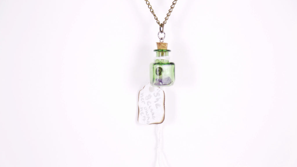 Personalized Scroll Necklace