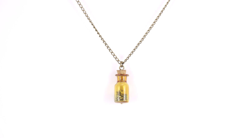 Personalized Amber Bottle Necklace