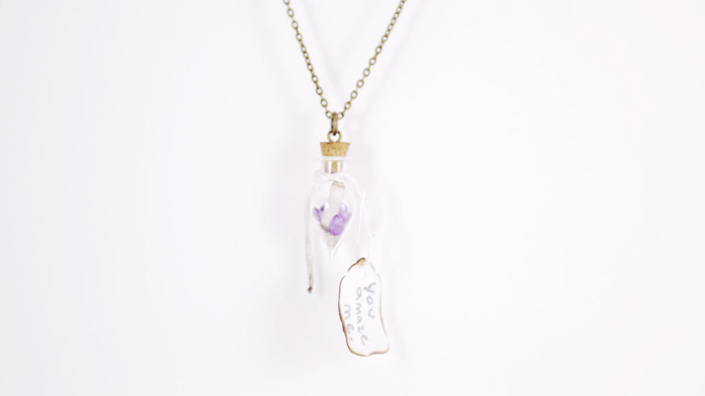 """You Amaze Me"" Scroll Necklace"