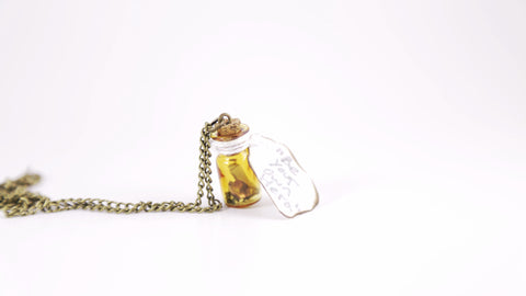 """Be Your Own Hero"" Scroll Necklace"