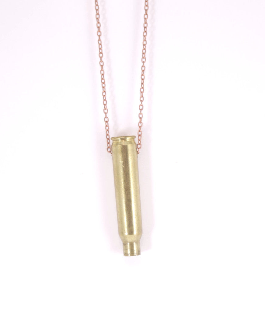 Single Shot Bullet Necklace
