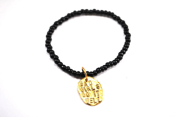 """Bad Girls Do It Well"" Bracelet Gold"