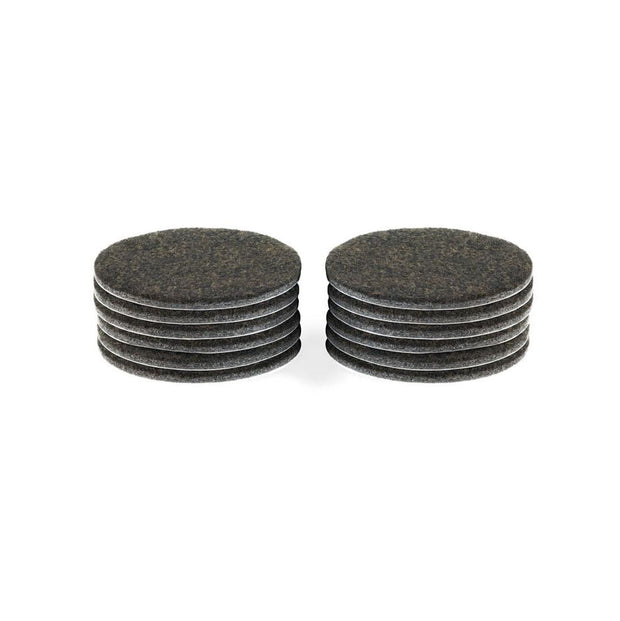 "2 1/2"" Diameter Heavy Duty Felt Pads - 12 Pieces"