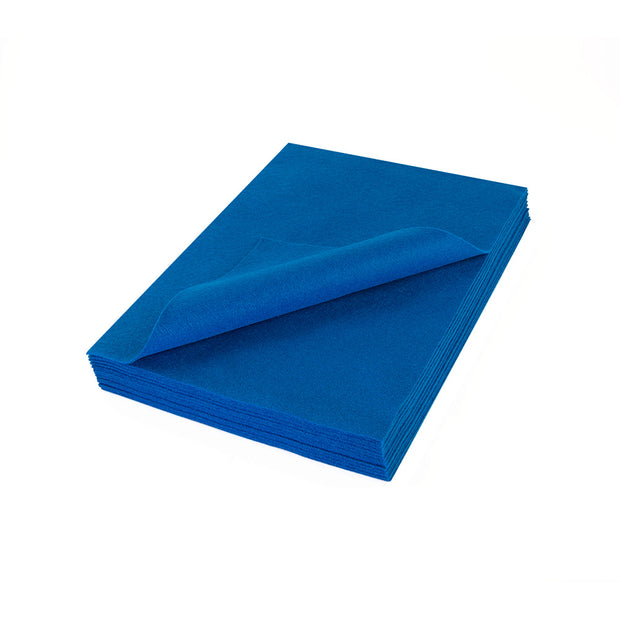 "Acrylic Craft Felt Sheets - 9"" Wide x 12"" Long, Indigo Blue"
