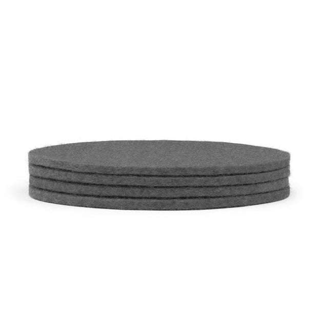 "Wool Felt Coasters - 4"" Diameter, 4 Pieces"