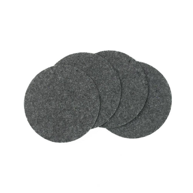 "Natural Gray Felt Coasters - 4"" Diameter, 4 Pieces"