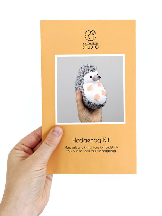 Hedgehog Hand Stitching Felt Kit - Short Fur