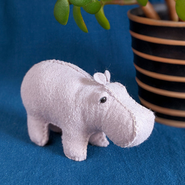 House Hippo Hand Stitching Felt Kit