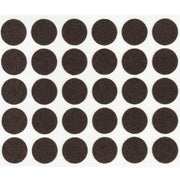 "1/4"" Diameter Light Duty Felt Pads By Roll - Brown"