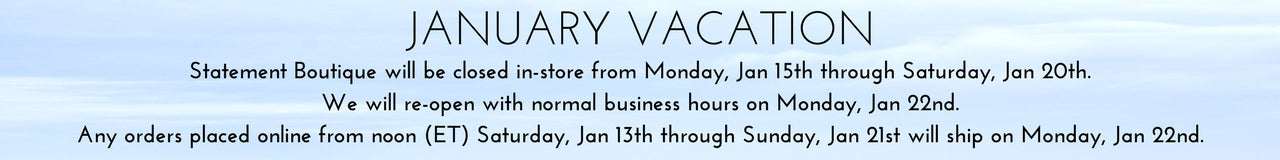 January Vacation Closure