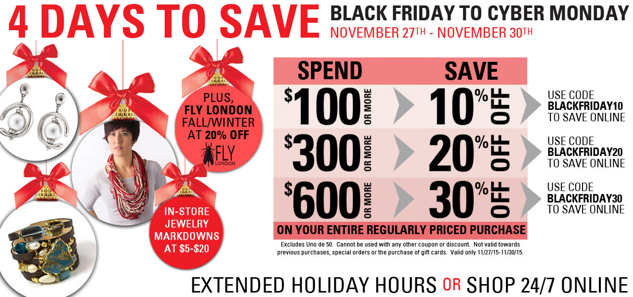 Statement's Black Friday Weekend Buy More Save More Event