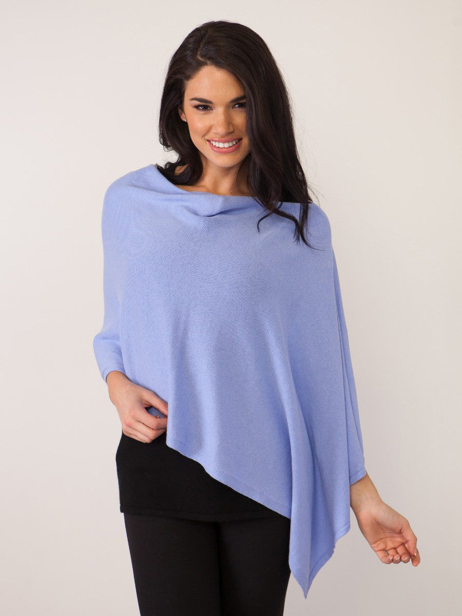 Alashan Cashmere - Cotton Cashmere Trade Wind Topper - Steel