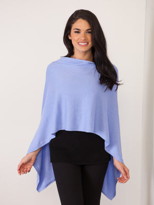 Cotton Cashmere Trade Wind Topper - Steel