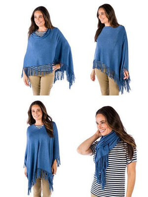 Alashan Cashmere - Cotton Cashmere Trade Wind Fringe Topper