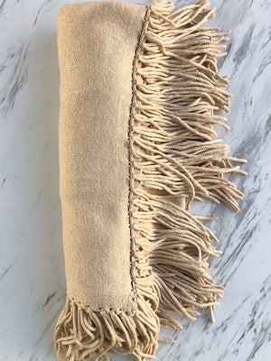 Alashan Cashmere Cashmere Trade Wind Fringe Topper - Mongolian  Cream - Statement Boutique