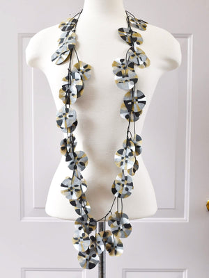 Ekeimenna By Annemieke Broenink - Huge Recycled Pansy Necklace