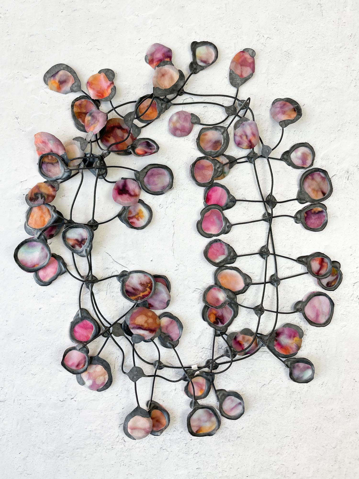 Annemieke Broenink Batik Poppy Necklace, Mauve Mix