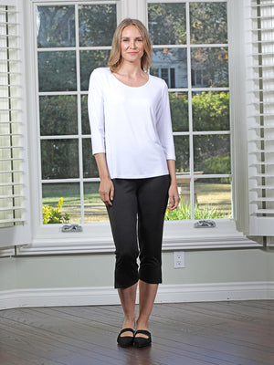 Chalet et ceci Jersey 3/4 Sleeve Basic Top