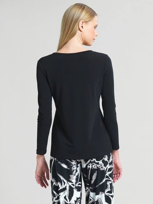 Clara Sunwoo Basic Long Sleeve Round Neck Top, Black - Statement Boutique
