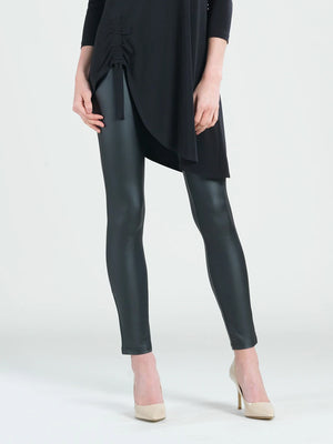 Clara Sunwoo Liquid Leather Two Tone Legging, Black - Statement Boutique