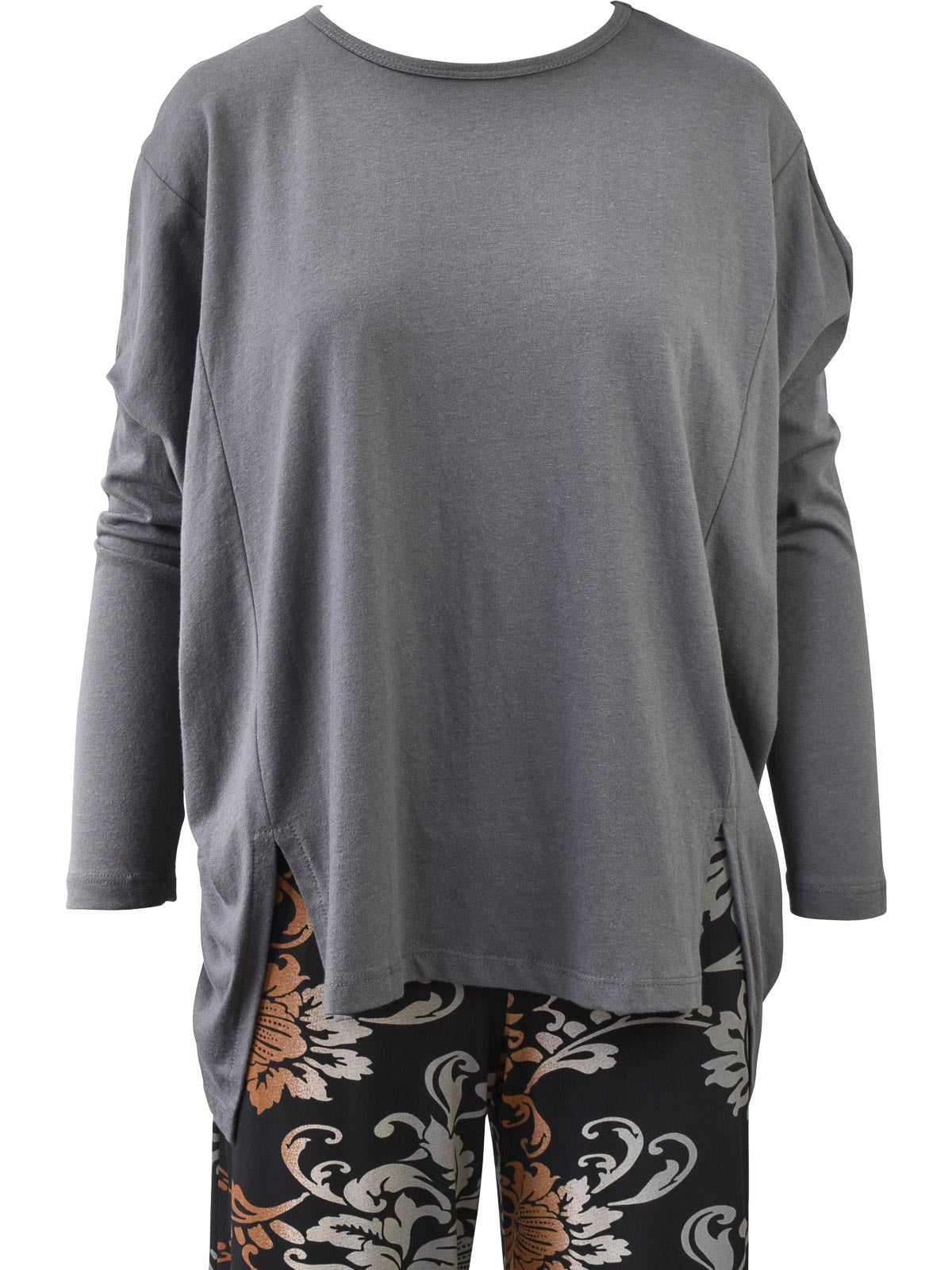 Clara Sunwoo Modal Cotton Oversized Tunic, Charcoal