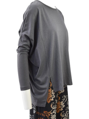 Clara Sunwoo Modal Cotton Oversized Tunic, Charcoal - Statement Boutique