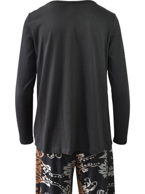 Clara Sunwoo Modal Cotton Twist Hem Top, Black - Statement Boutique