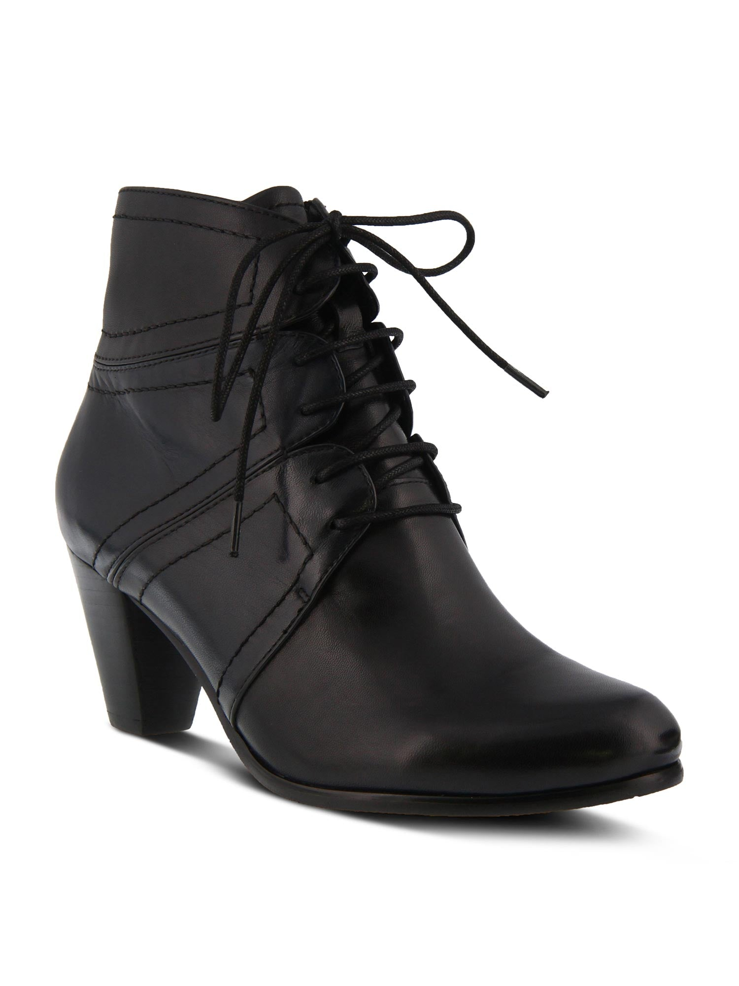 Hilde Lace Up Bootie in Black