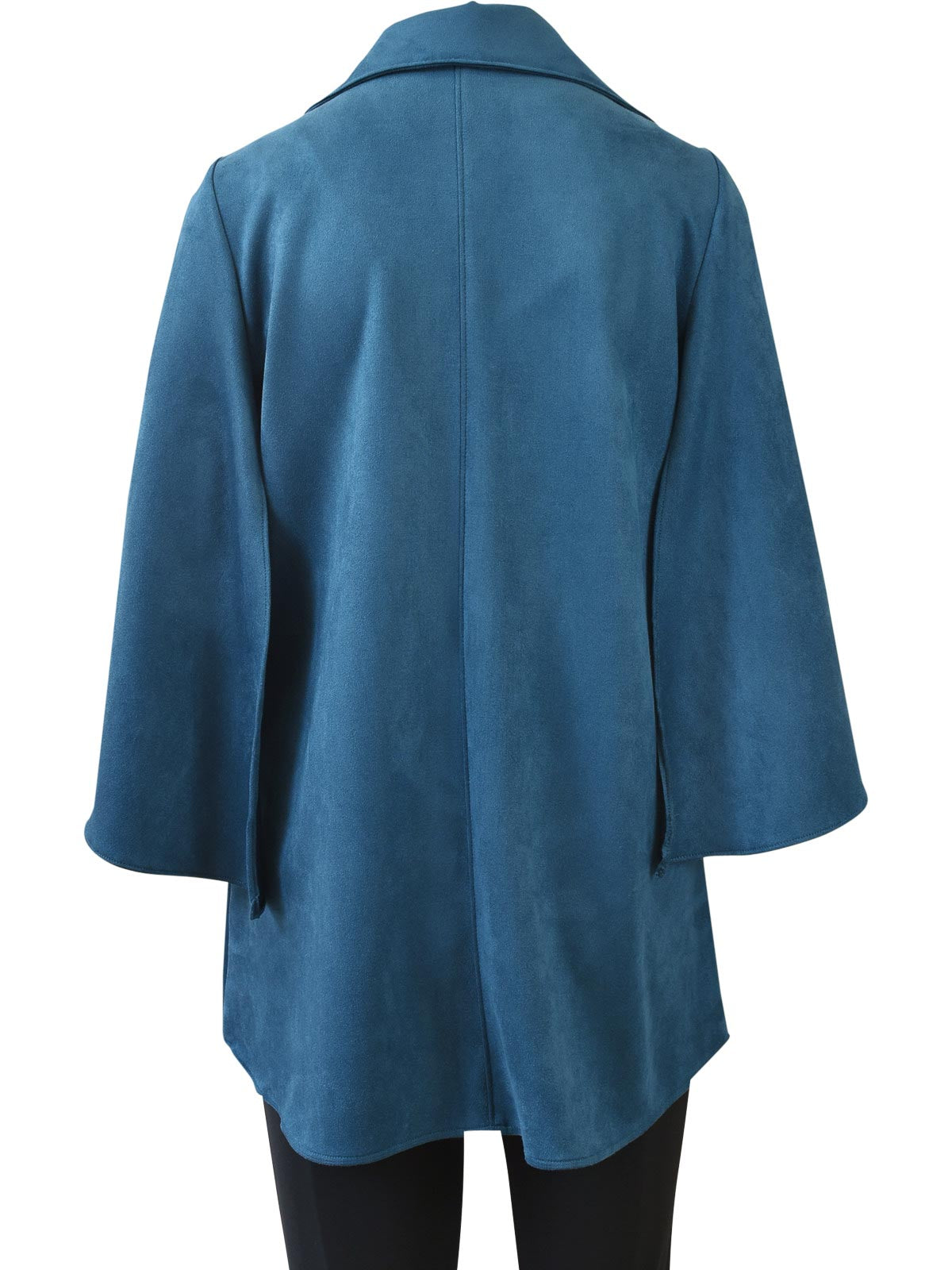 IC Collection Sueded Kimono Sleeve Jacket, Teal