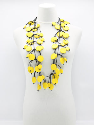 Jianhui London Coins on Leatherette Necklace, Yellow - Statement Boutique