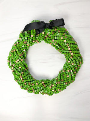 Jianhui London Mosaic The Next Pashmina Beaded Necklace, Gold/Summer Green - Statement Boutique