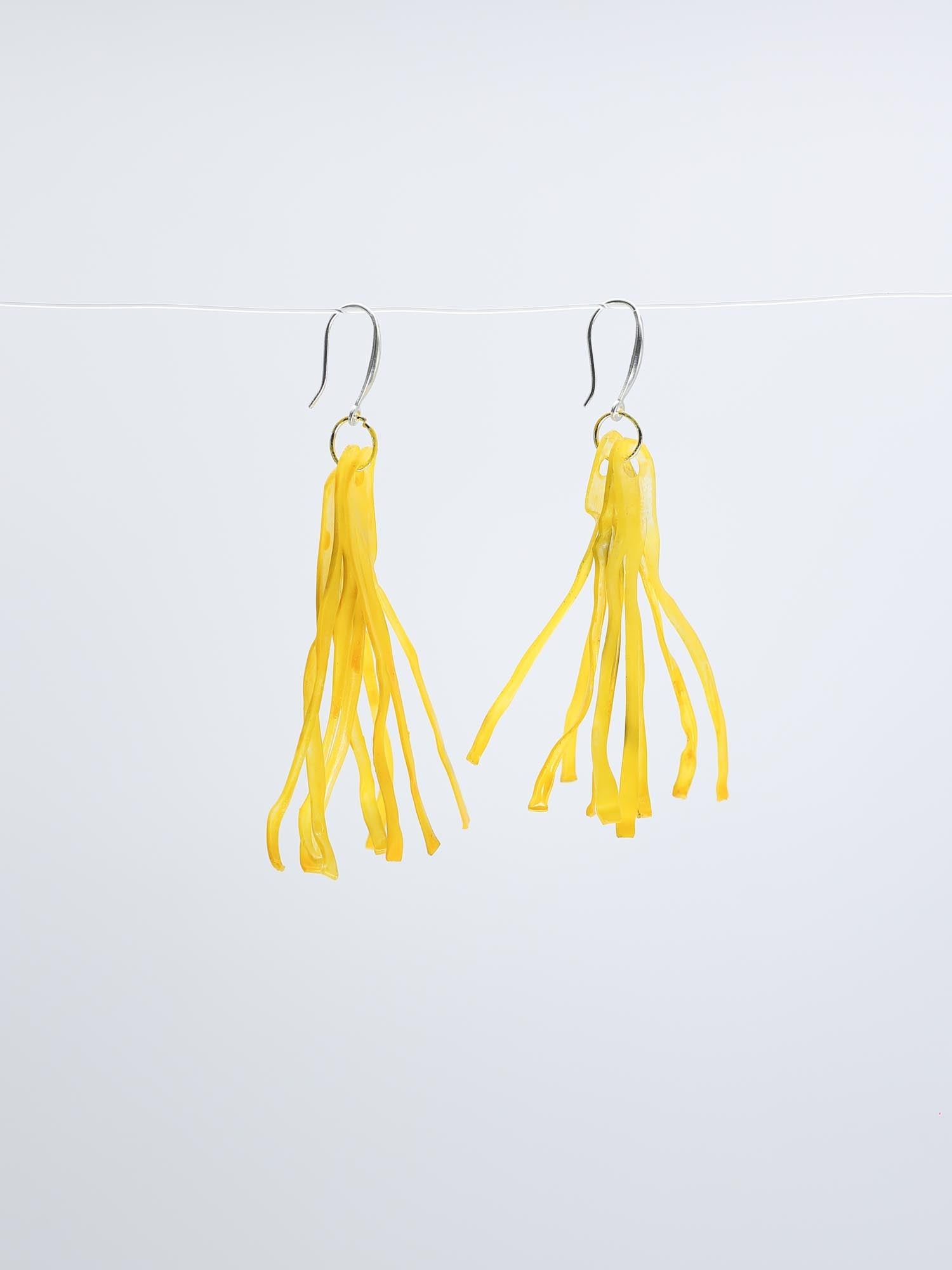 Jianhui London Aqua Fringe Drop Earrings, Yellow - Statement Boutique