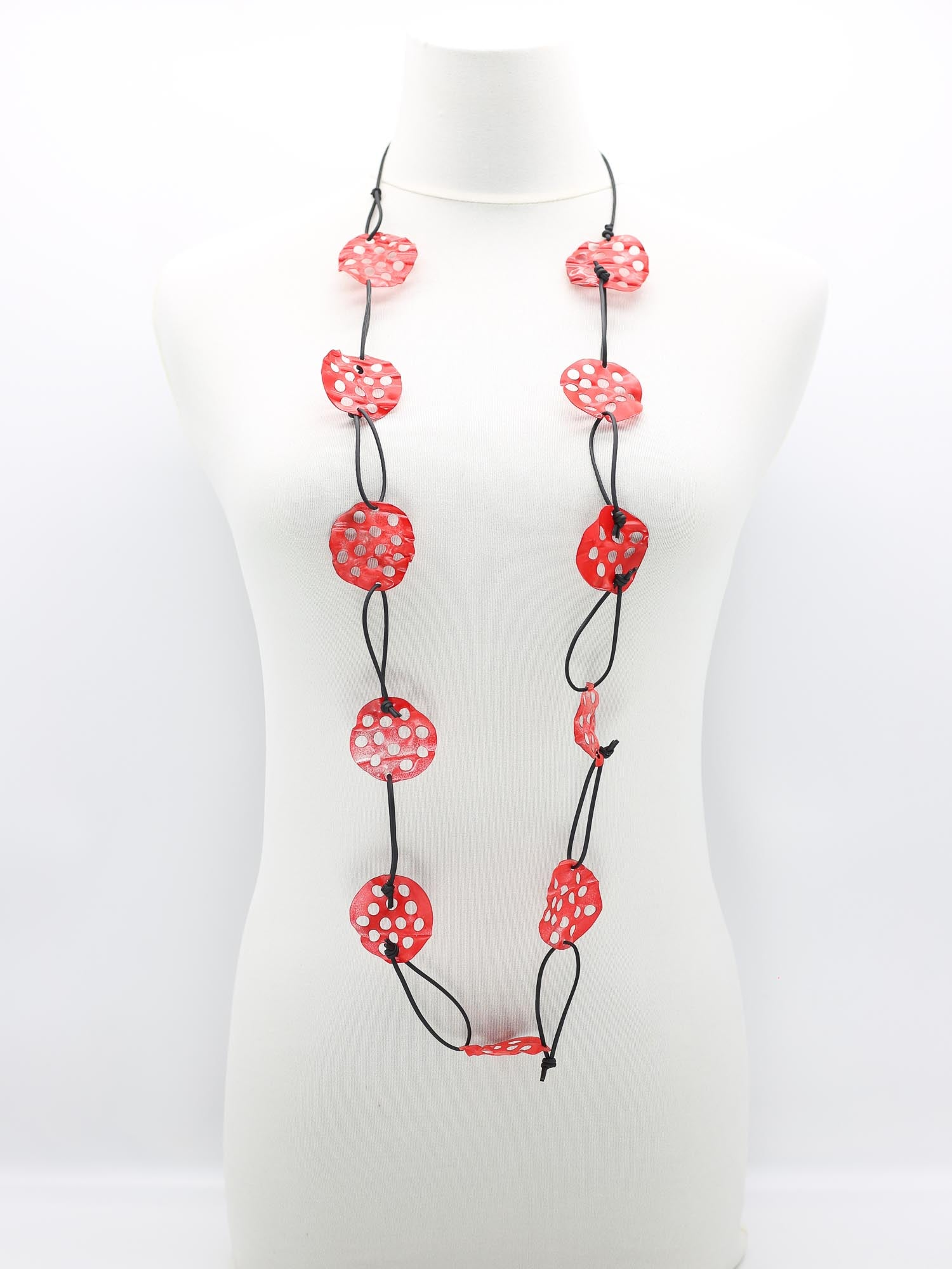 Jianhui London Aqua Lotus Root Necklace, Red - Statement Boutique