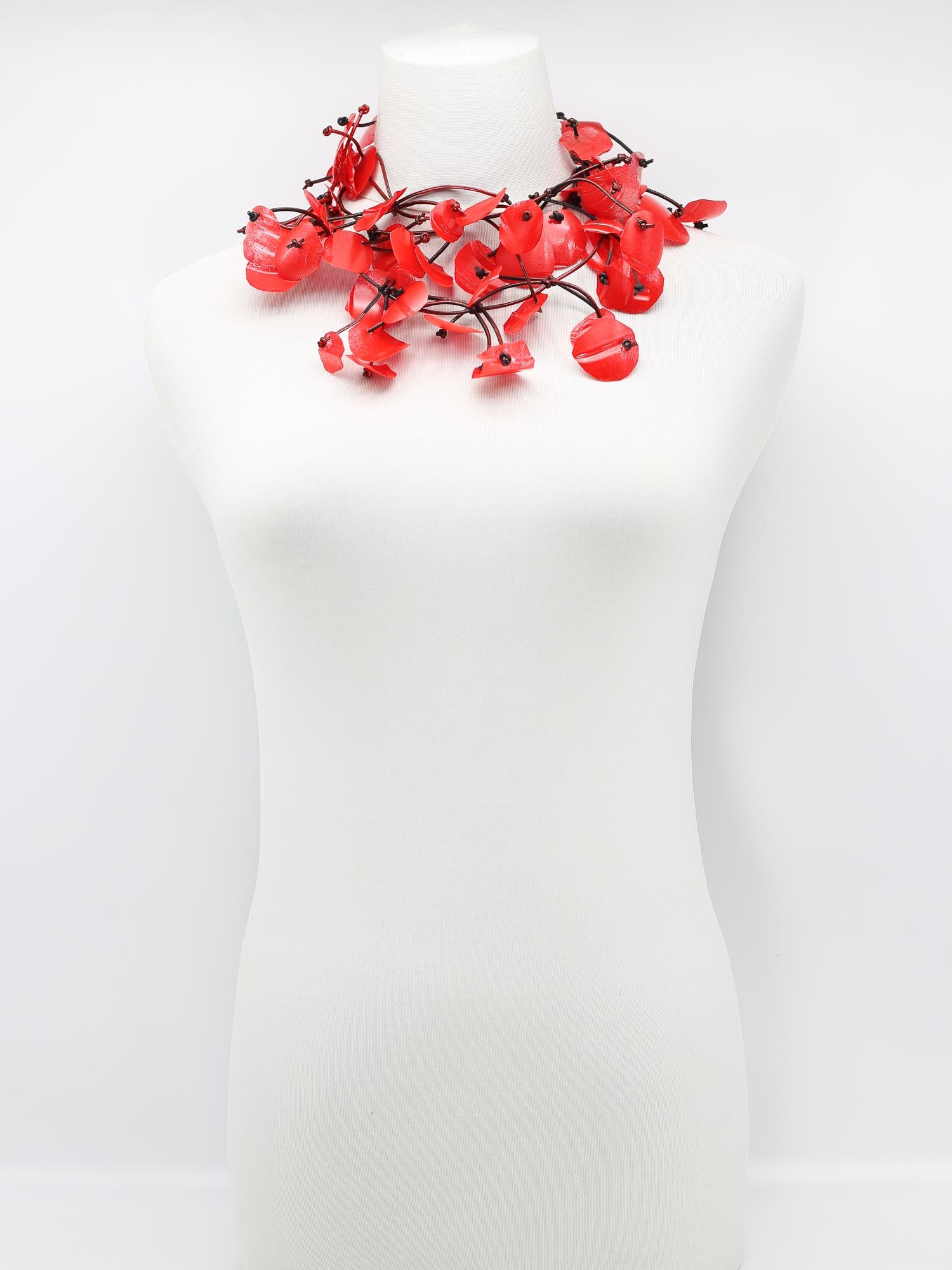 Jianhui London Aqua Water Lily Necklace, Red - Statement Boutique