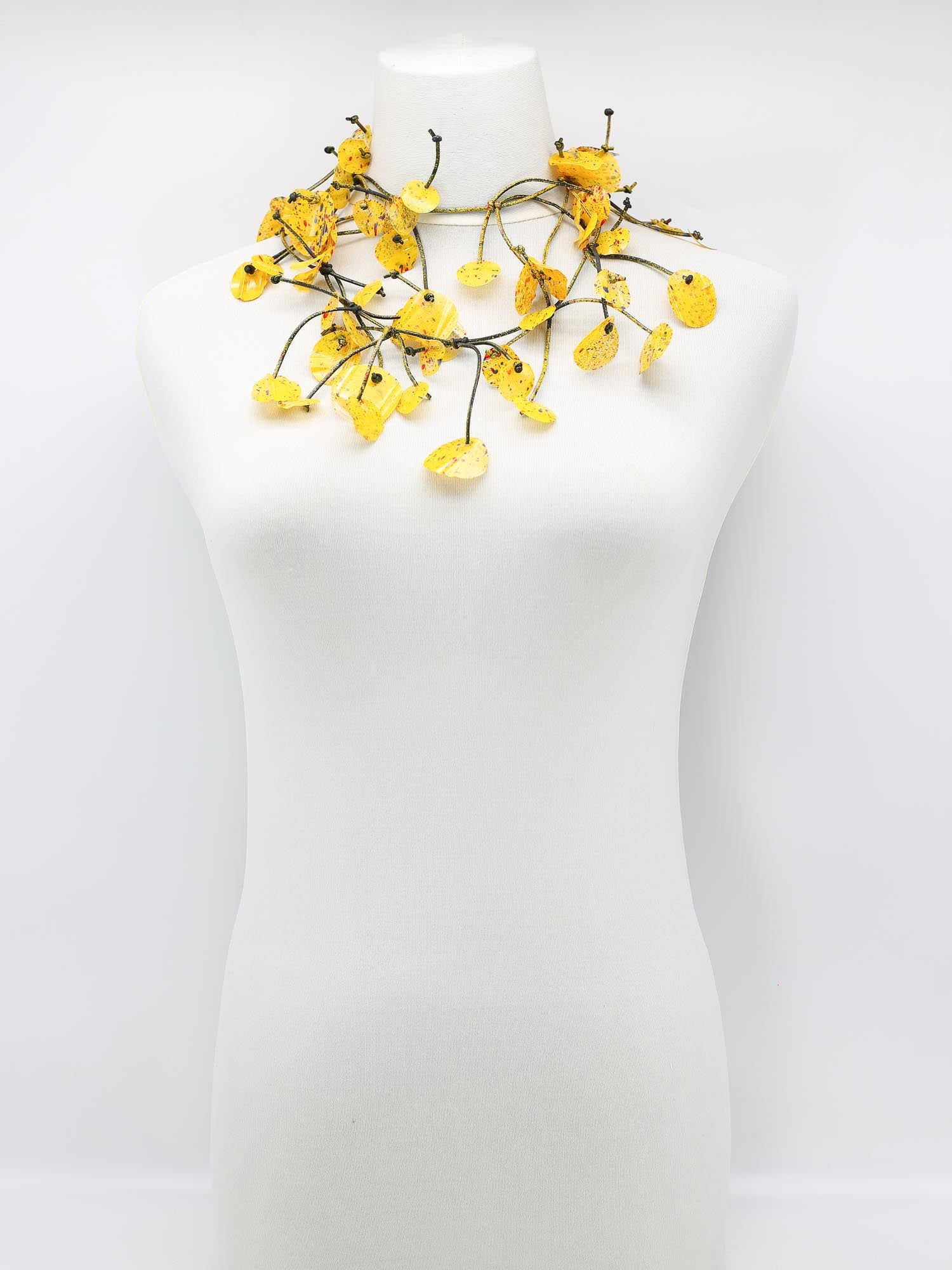 Jianhui London Aqua Water Lily Necklace, Yellow Graffiti - Statement Boutique