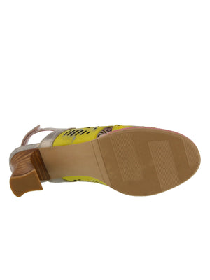 L'Artiste - Luetta Cut Out Sandal - Yellow Multi