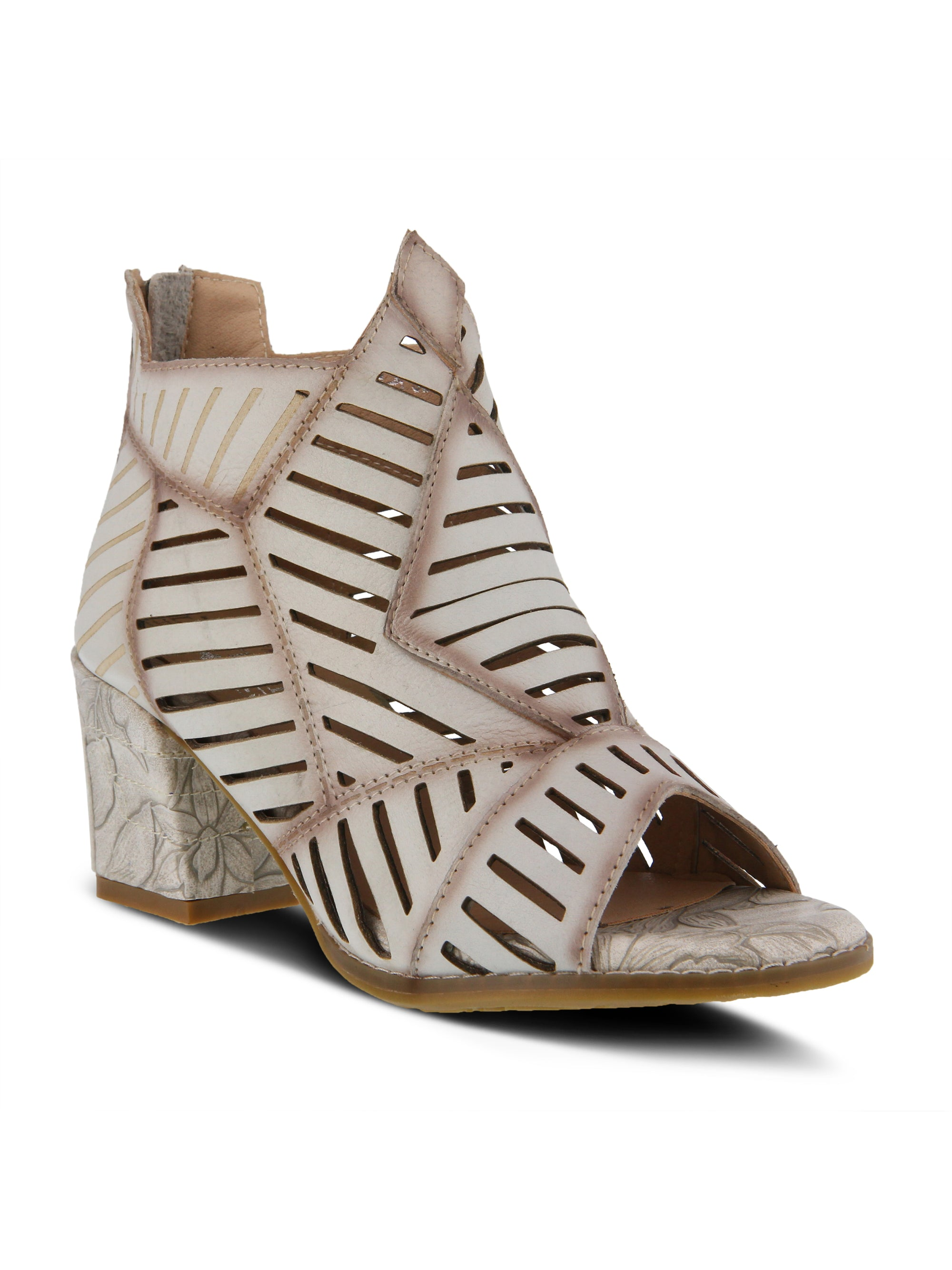Angular Open Toe Heel - Bone