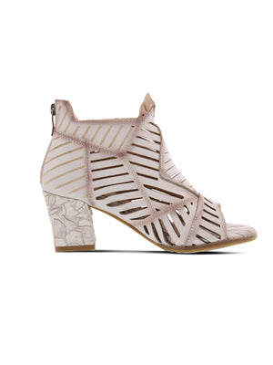 L'Artiste Angular Open Toe Heel - Bone - Statement Boutique
