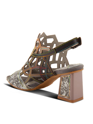 L'Artiste Sanstar Laser Cut Sandals in Grey Multi - Statement Boutique