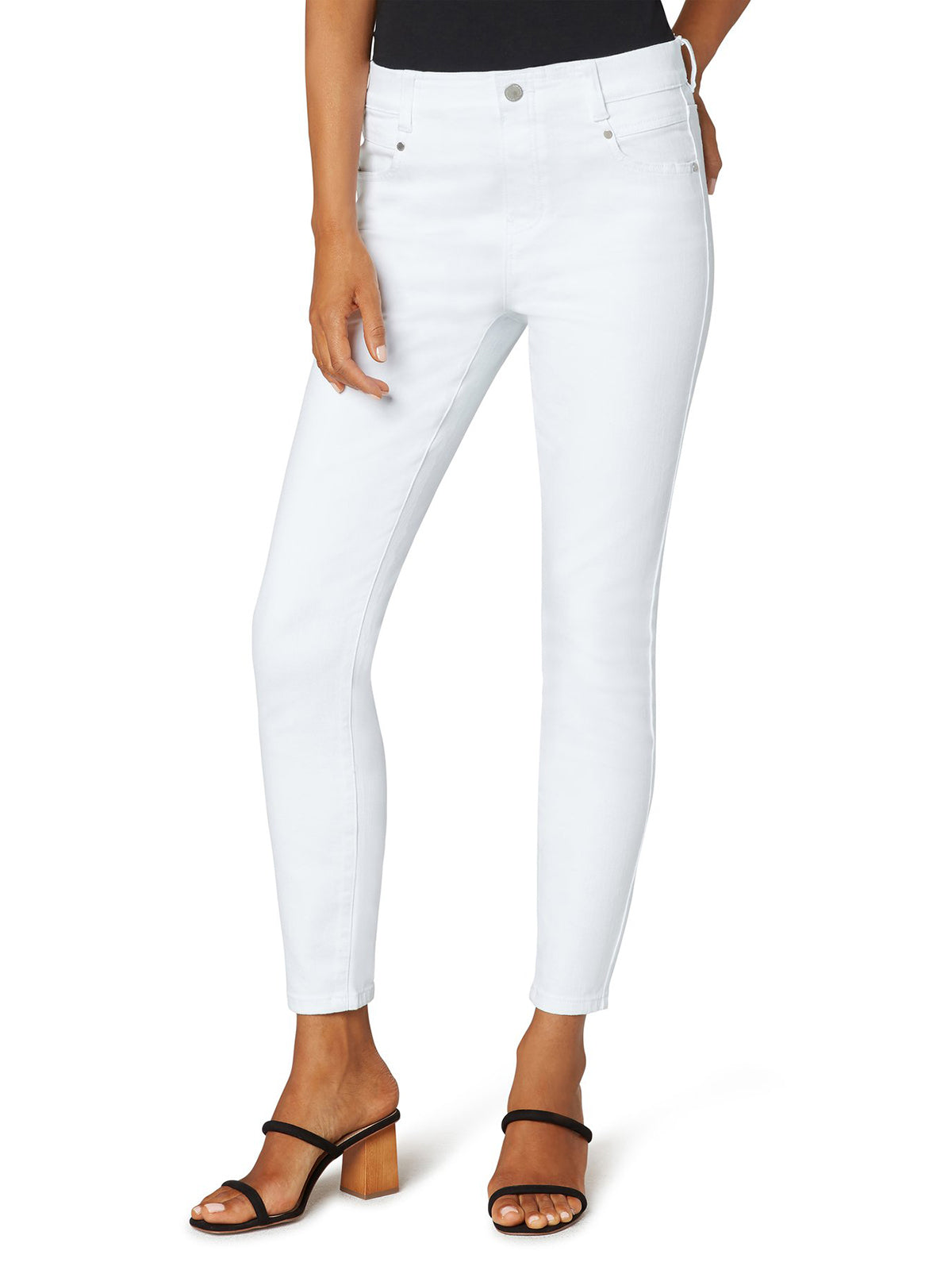 "Liverpool Los Angeles Gia Glider Ankle Skinny 28"", Bright White"