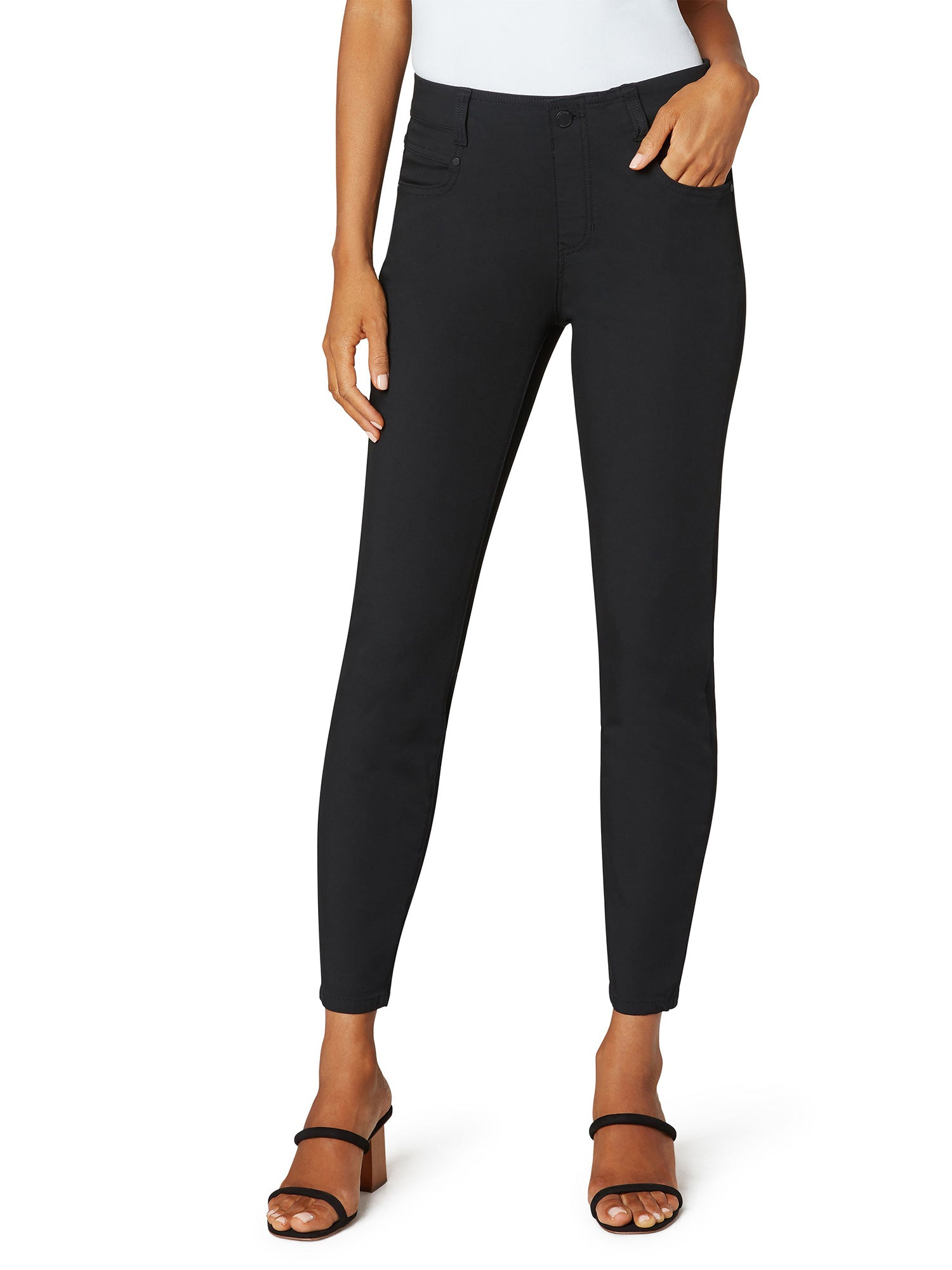 Liverpool Los Angeles Gia Glider Ankle Skinny, Black