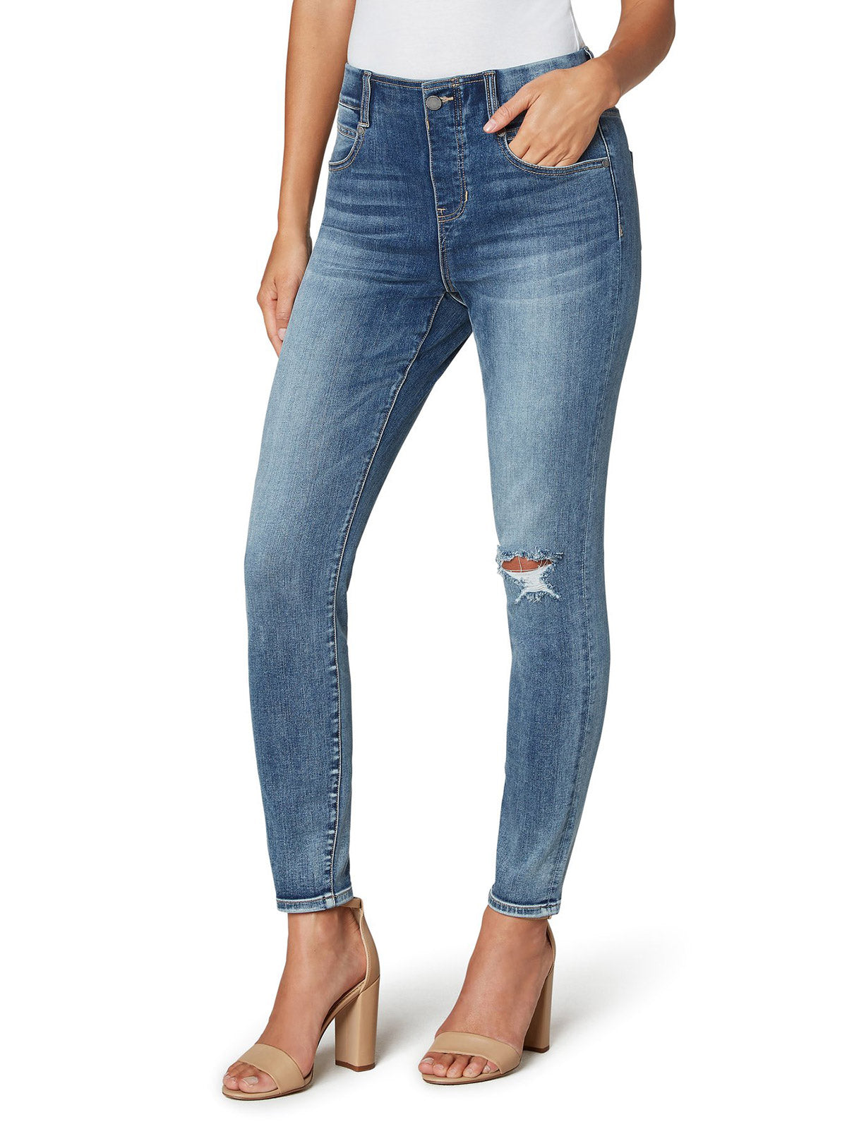 "Liverpool Los Angeles Gia Glider Ankle Skinny 28"", Leigh"